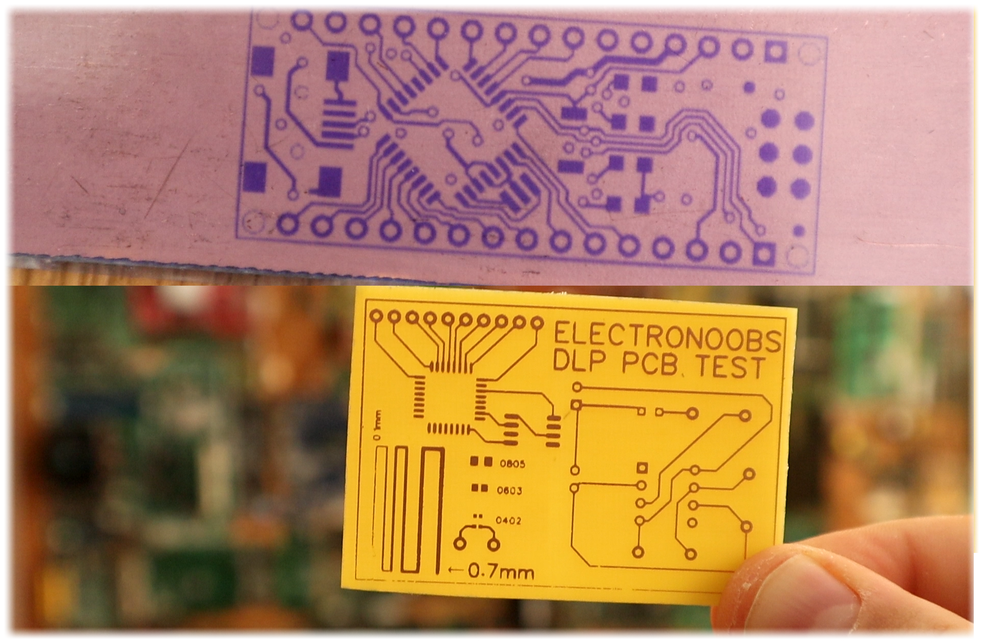 Using Dlp Printer To Etch Copper Pcb Etching Circuit Boards Photosensible