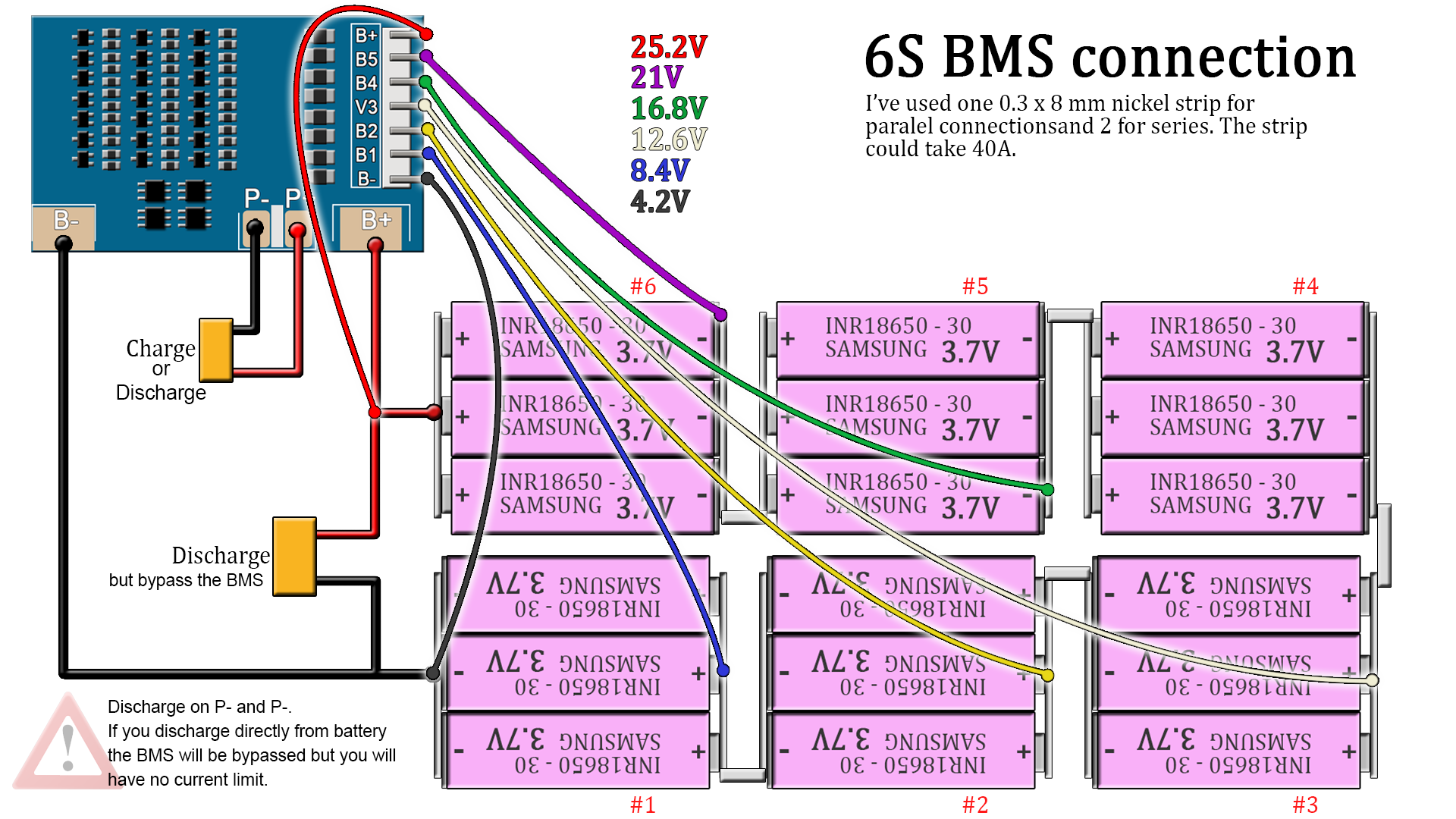 6s bms battery schematic connection