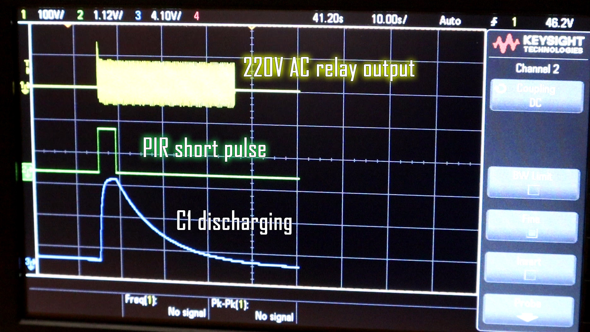 PIR delay infrared circuit detection