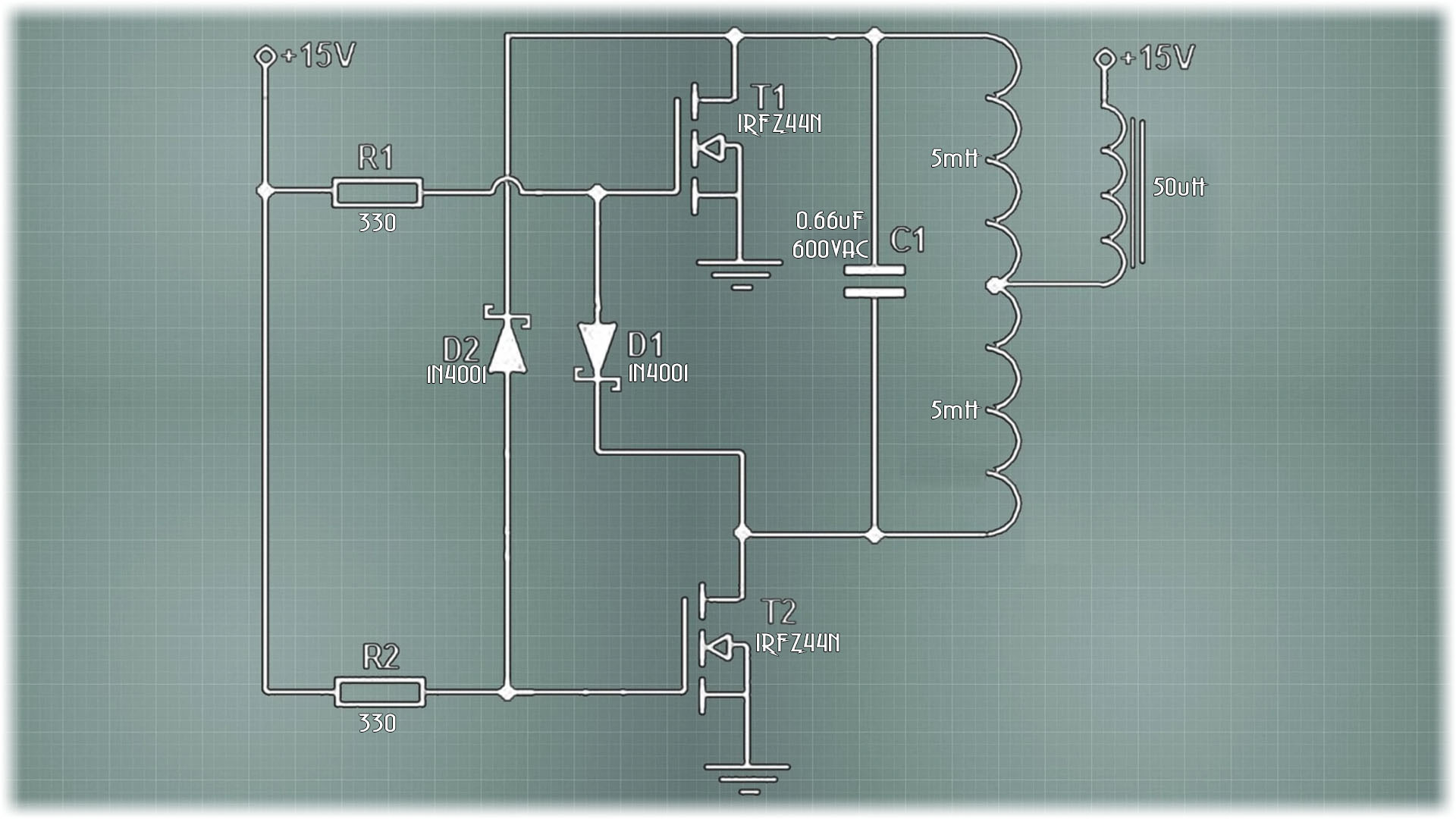 schematic magnetic induction heater DIY