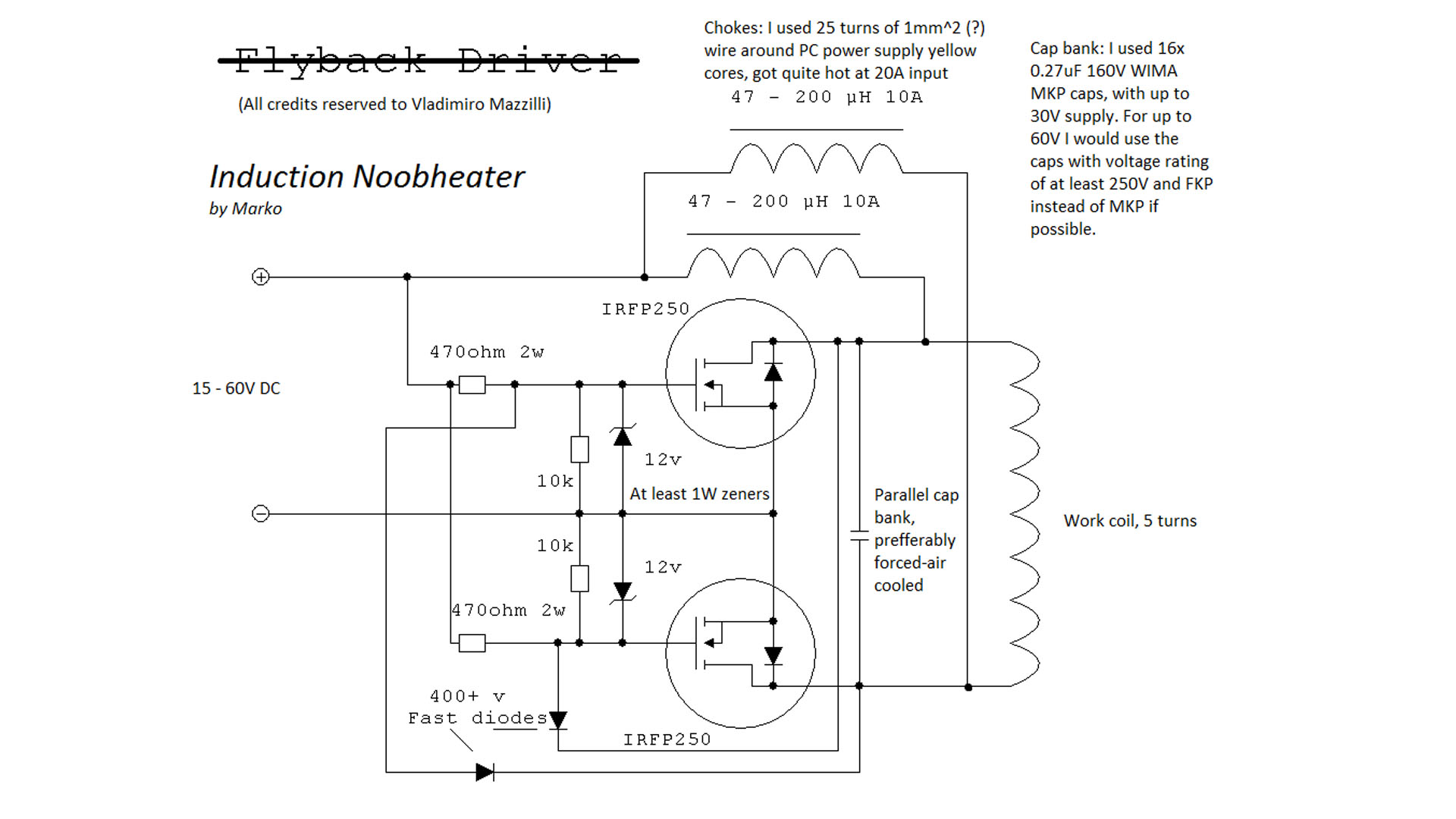 schematic magnetic induction heater circuit