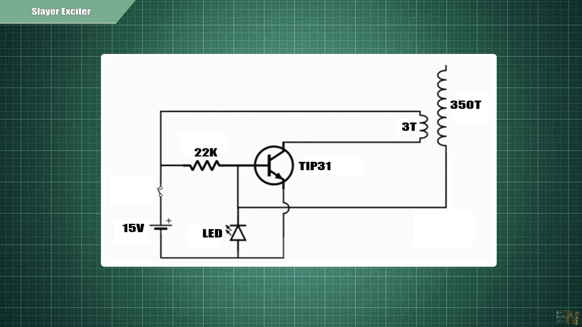 Tesla coil Slayer Exciter circuit schematic
