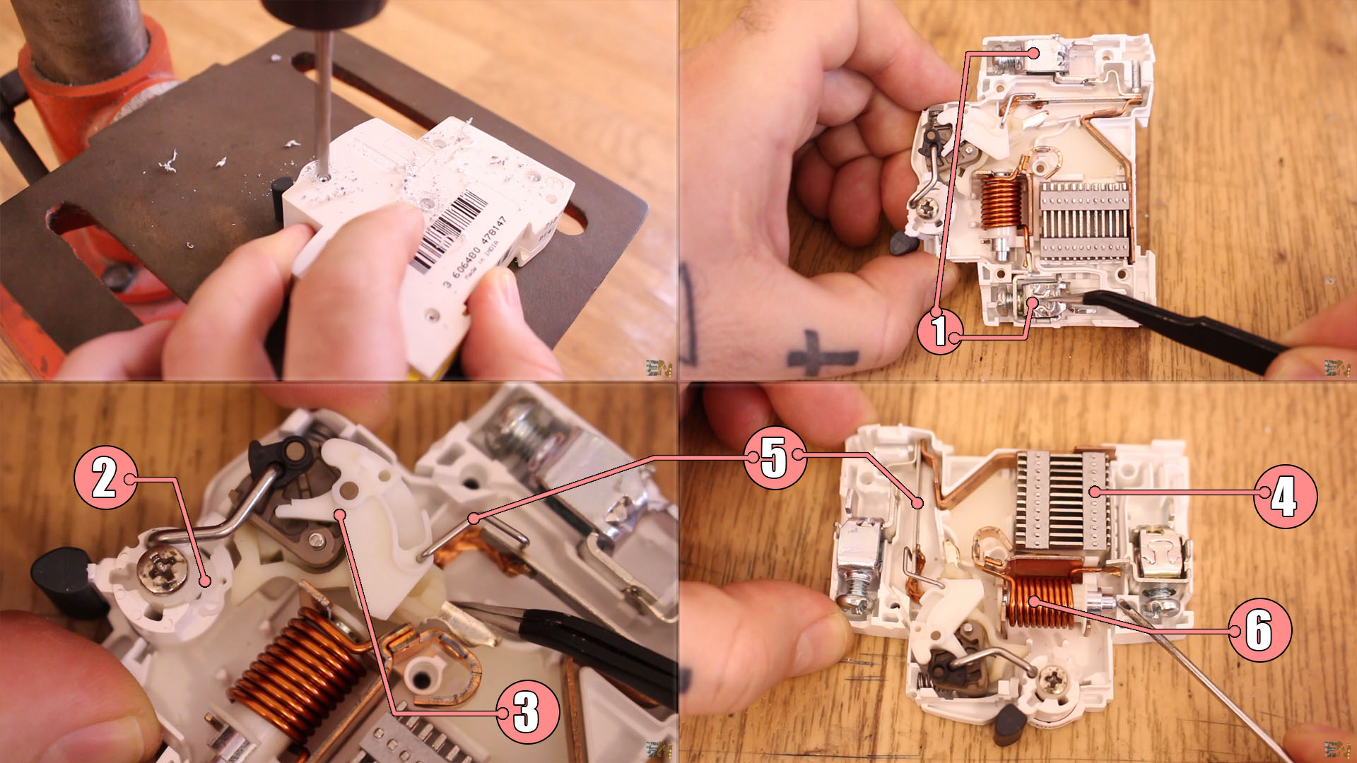 what is inside an MCB miniature circuit breaker?