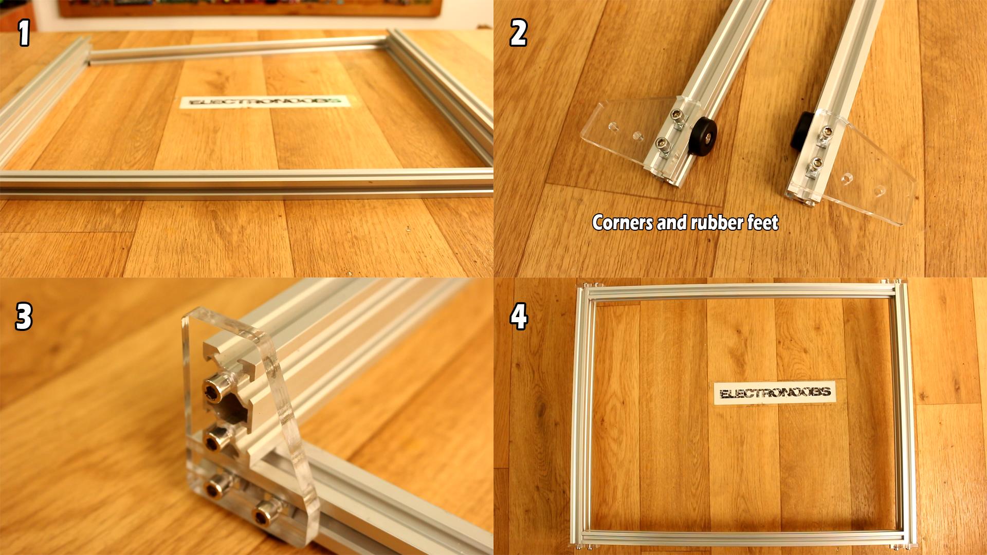 Eleksmaker A3 benbox elekscam software review laser assemble guide