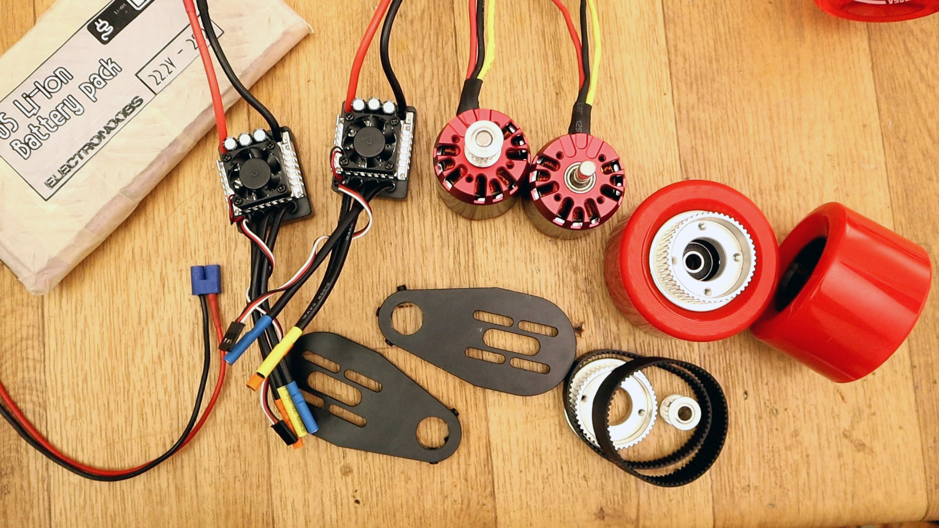 Arduino homemade electric longboard part list