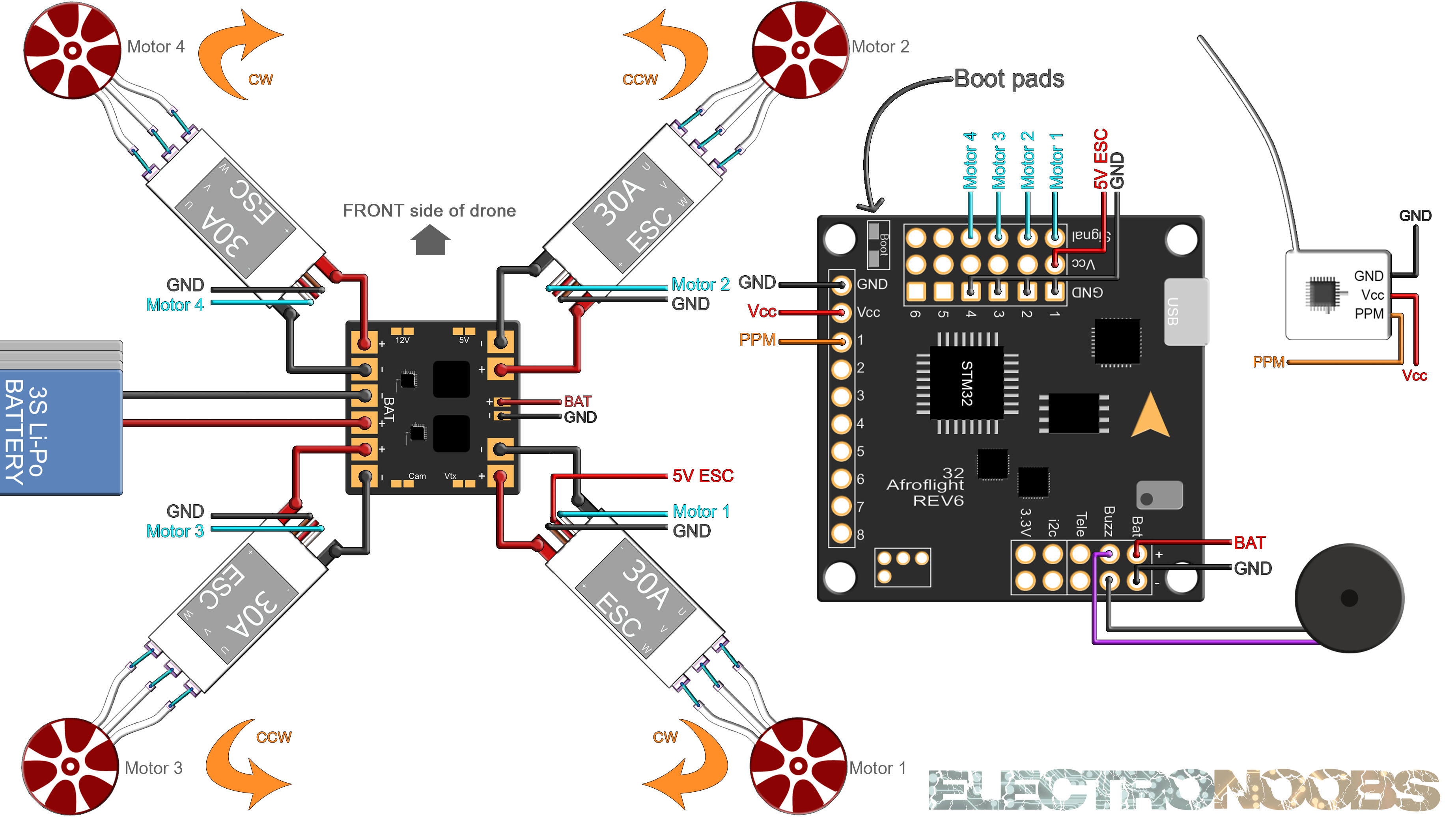 NAZE 32 schematic drone DIY PPM SBUS