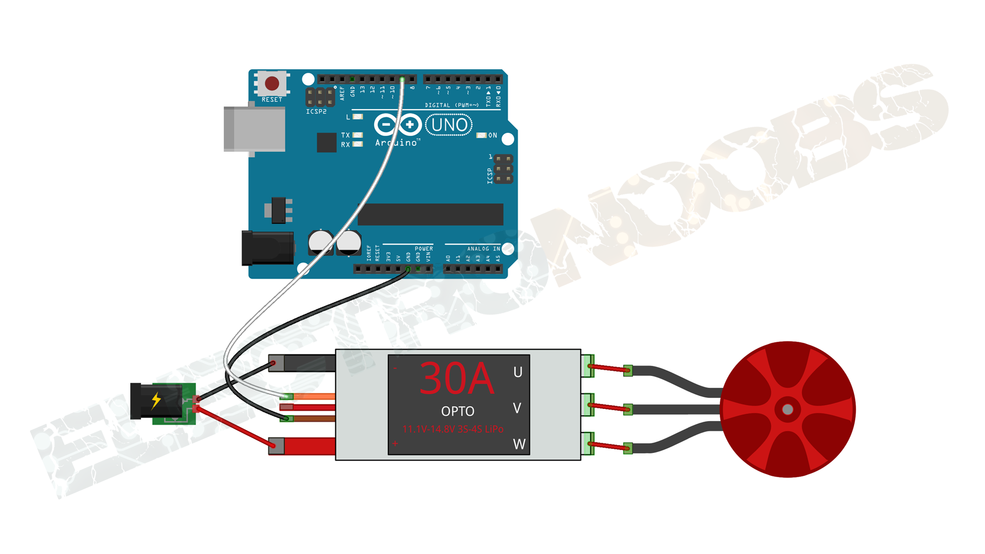 ESC calibrate with Arduino code