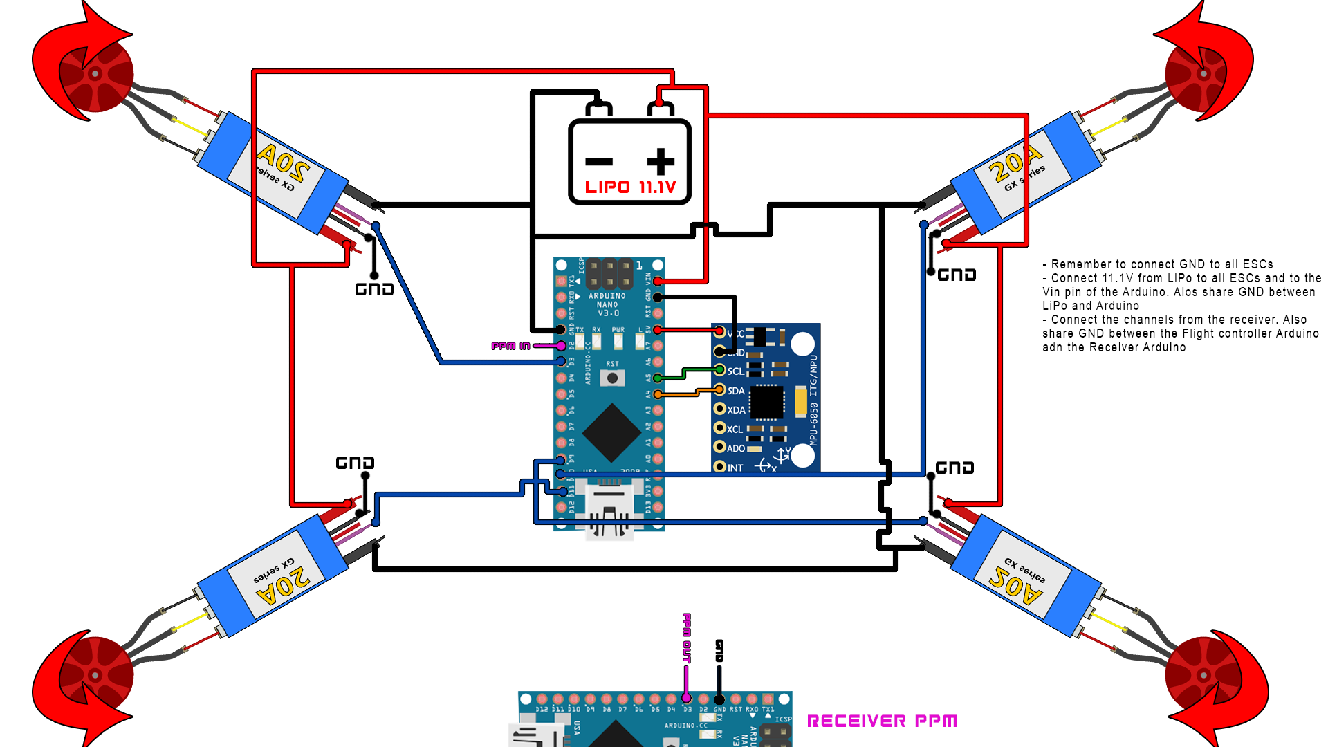 Arduino rc receiver schematic