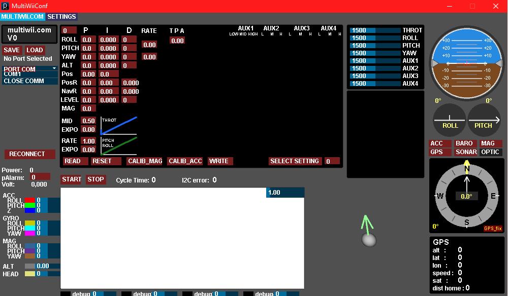Arduino multiwii flight controller