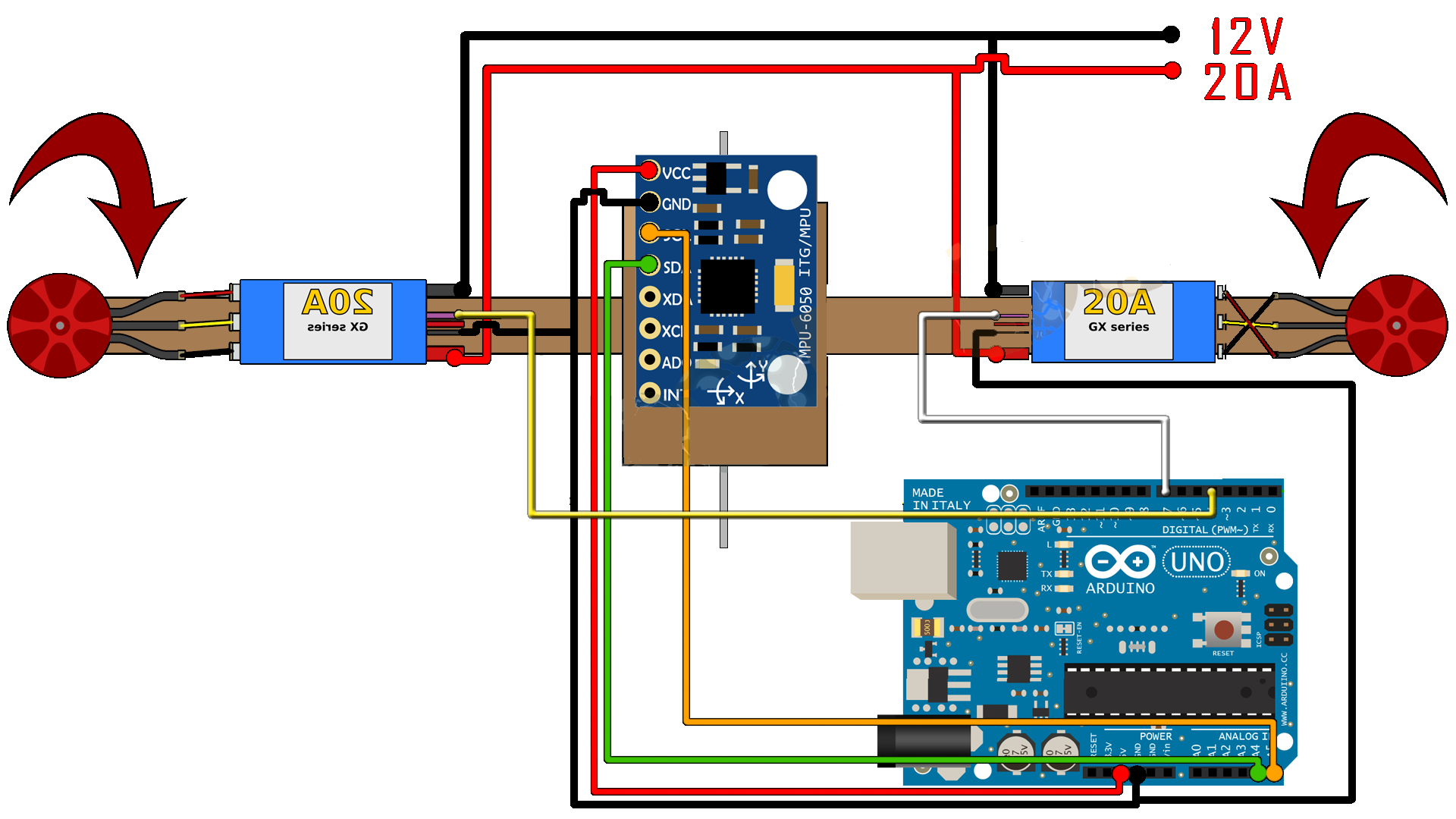 One axis flight controller pid arduino