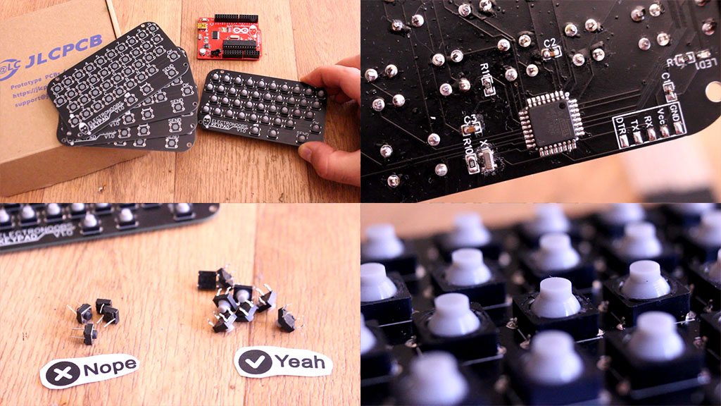 Arduino matrix keypad keyboard parts