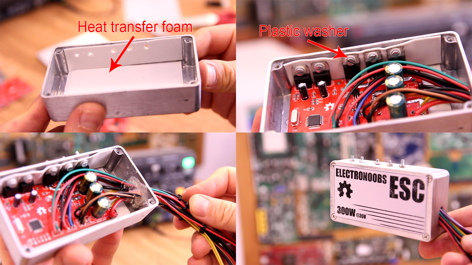 DIY electric bike speed controller metal case