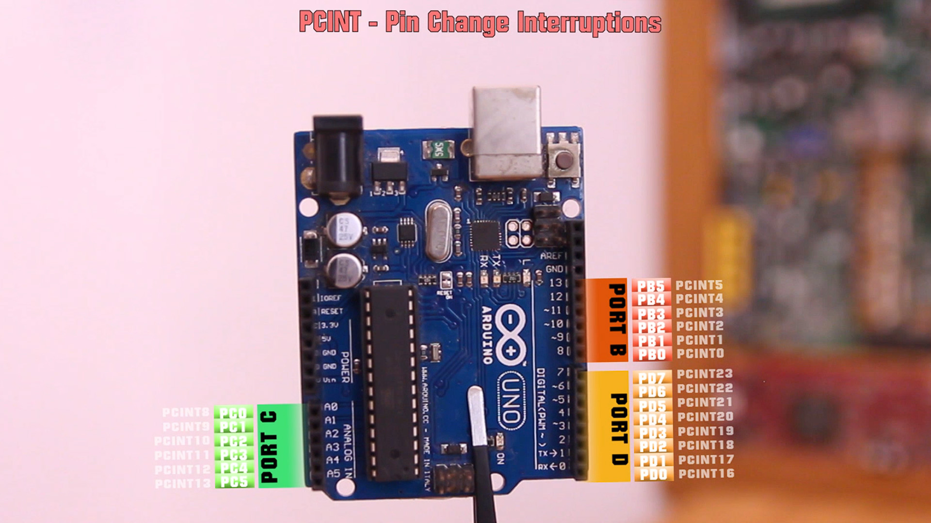 ATmega238 PCINT pins tutorial