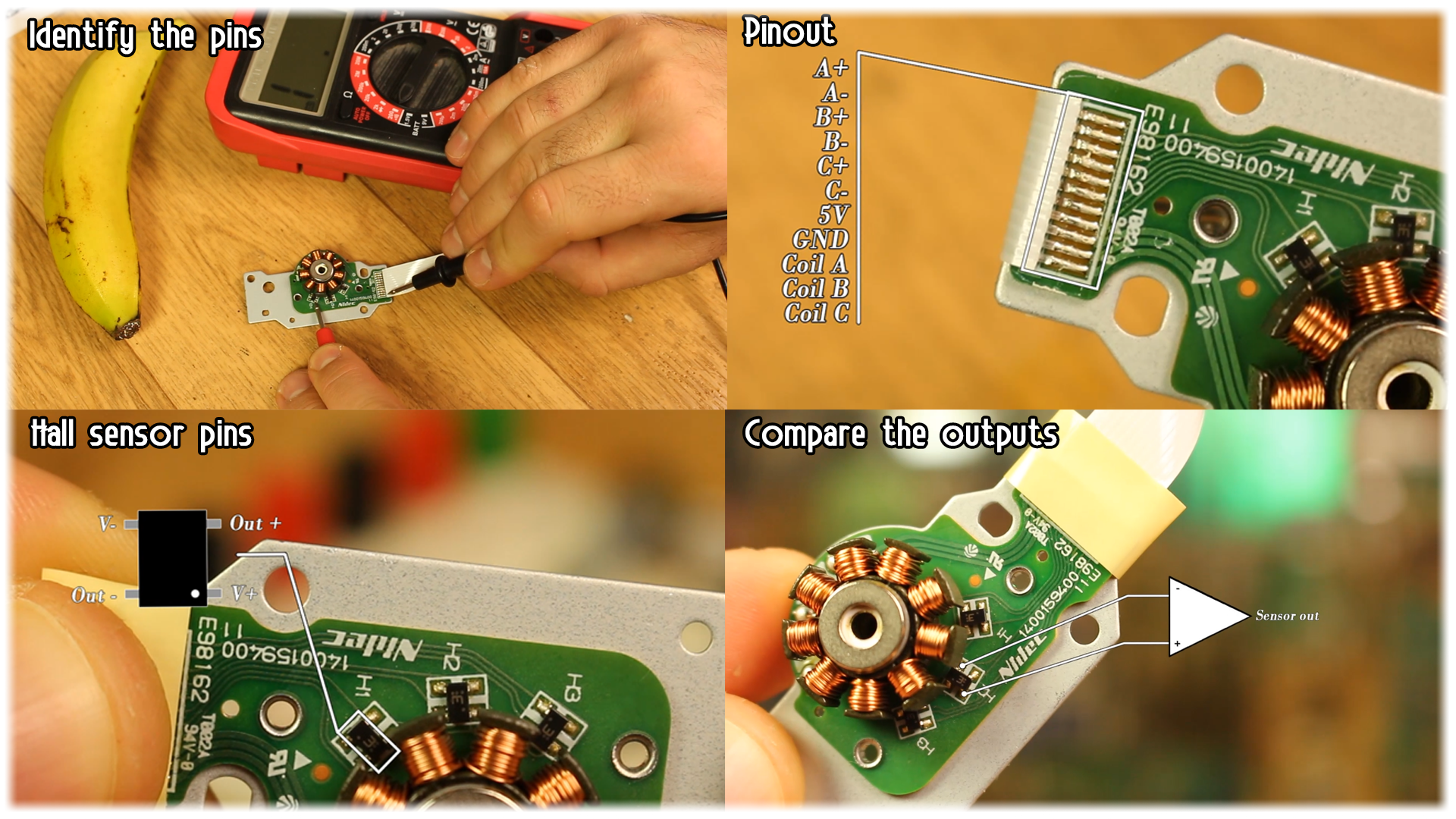 CD writer brushless motor pins circuit