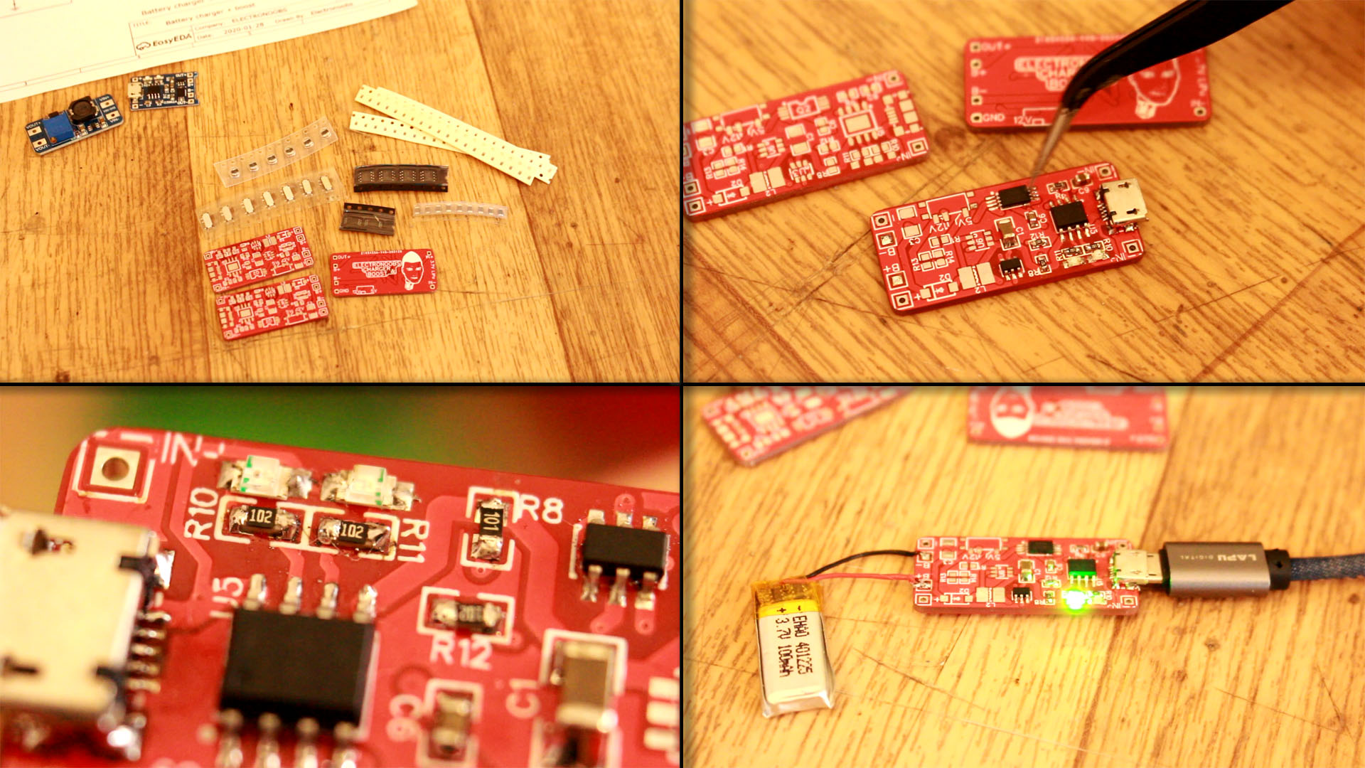 circuit homemade battery charger BMS