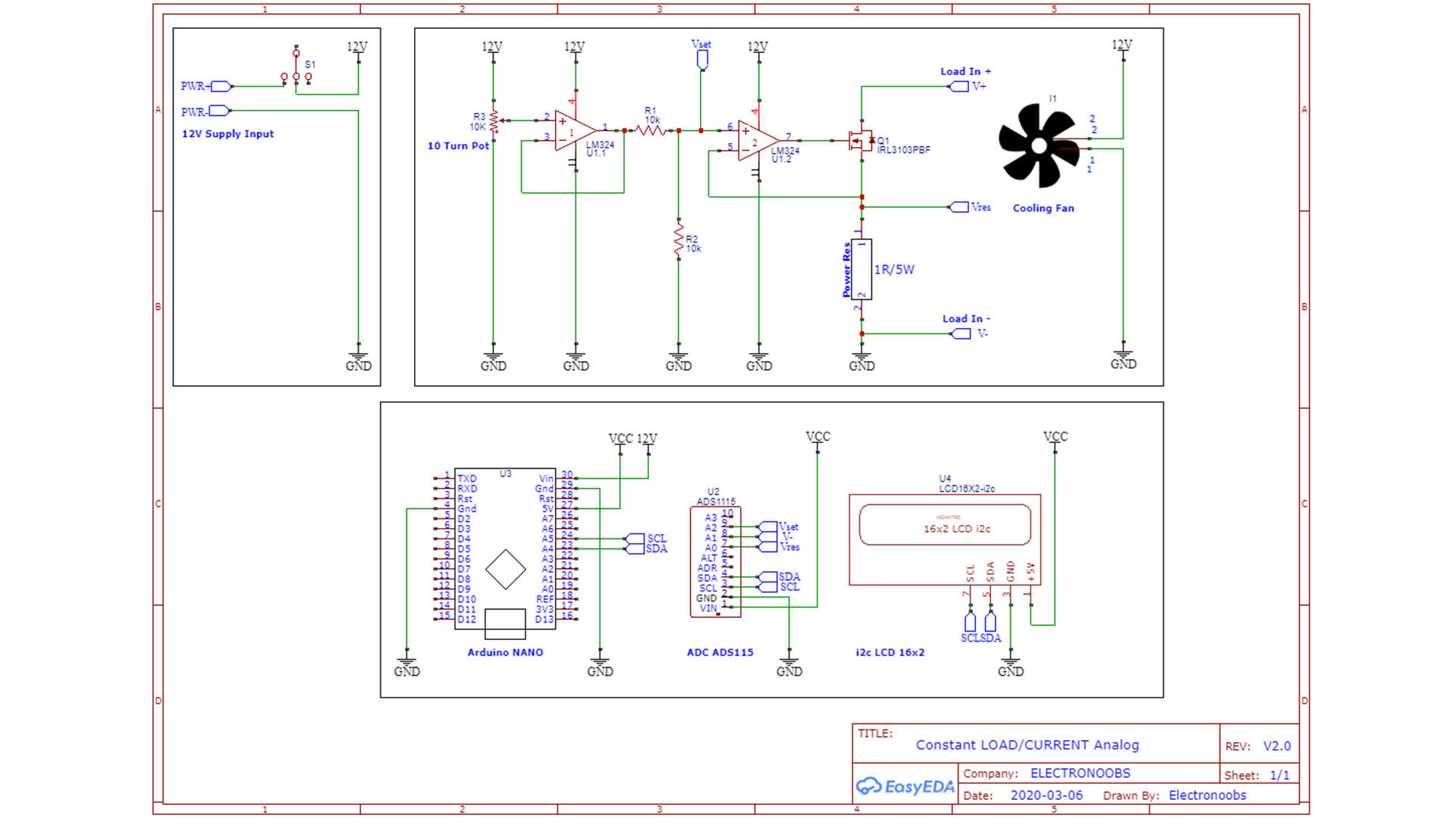 schematic constant load controller homemade
