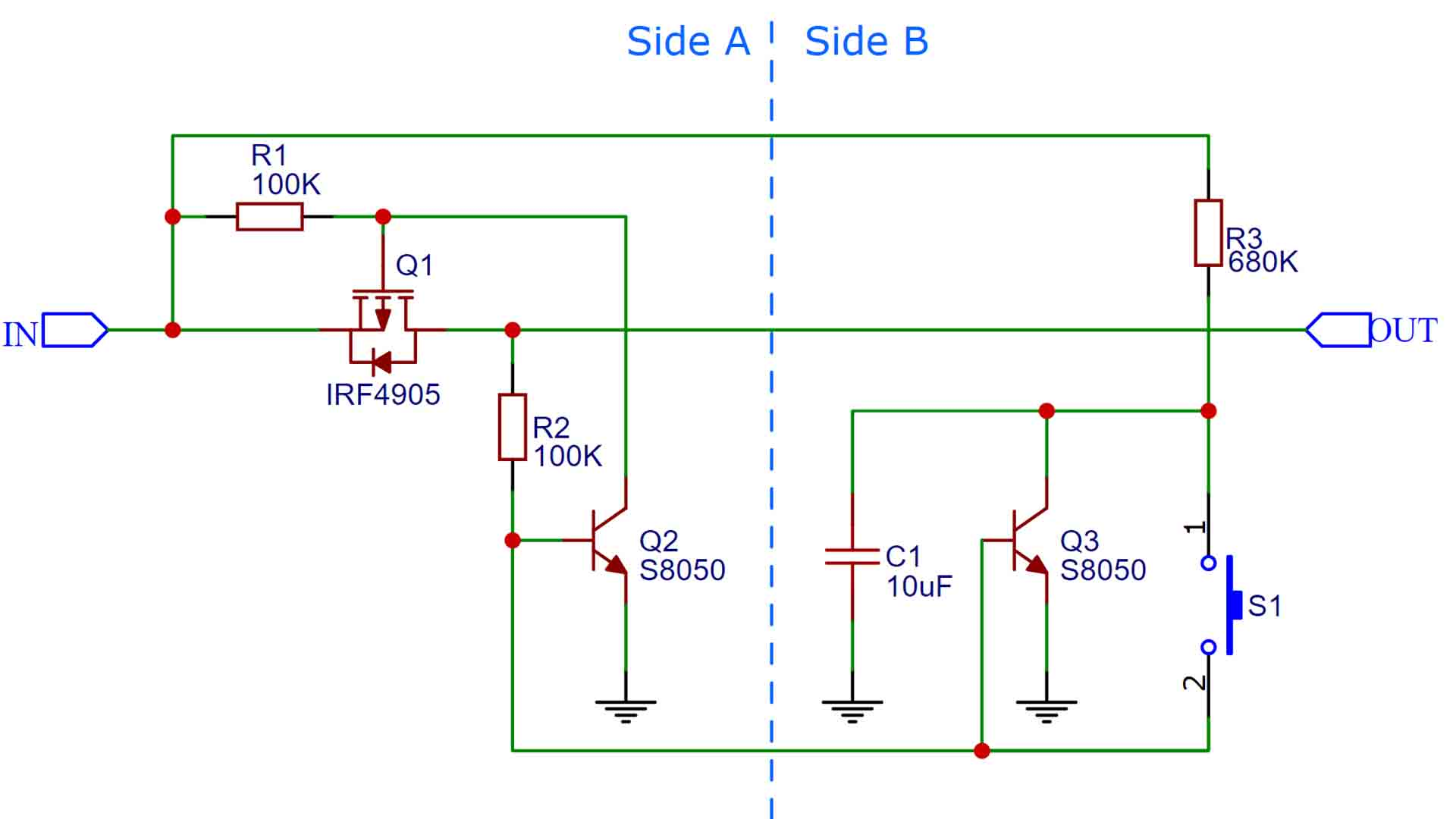 homemade latch circuit schematic